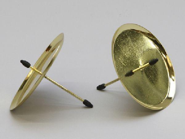 Kerzenteller mit Pick GOLD 233240/25920 70mm
