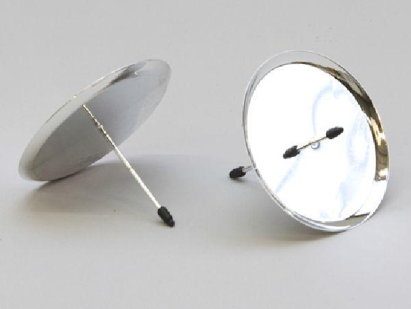 Kerzenteller mit Pick SILBER 233251/25931 80mm