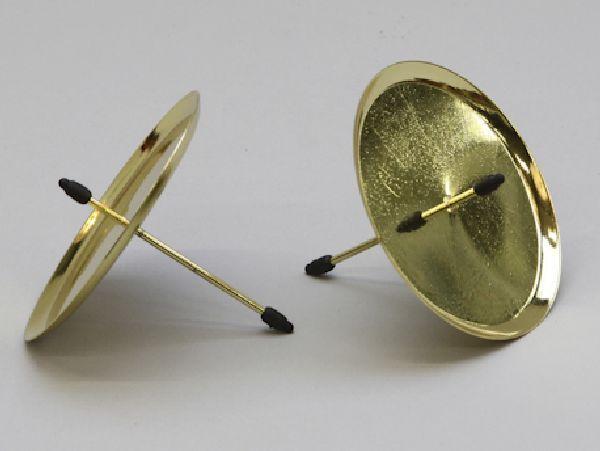 Kerzenteller mit Pick GOLD 233250/25930 80mm