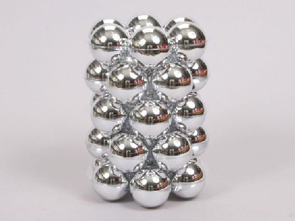 Kugel - Kunststoff - bruchfest 30 Stück SILBER 29832 Ø60mm, Kunststoff
