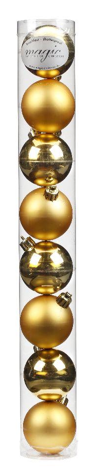 Kugel - Kunststoff - bruchfest 8 Stück GOLD 8101301 Ø60mm, Kunststoff