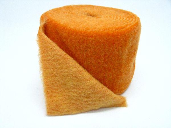 Wollvlies Heavy orange / kürbis 082 150 mm 5 Meter / zweifarbig