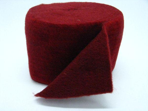 Wollvlies Heavy burgund / rot 880 150 mm 5 Meter / zweifarbig