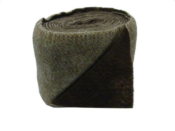 Wollvlies Heavy schoko / creme 065 150 mm 5 Meter / zweifarbig