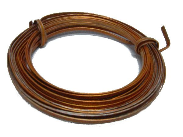 Alu-Flachdraht ORANGE 2mm 5m lang