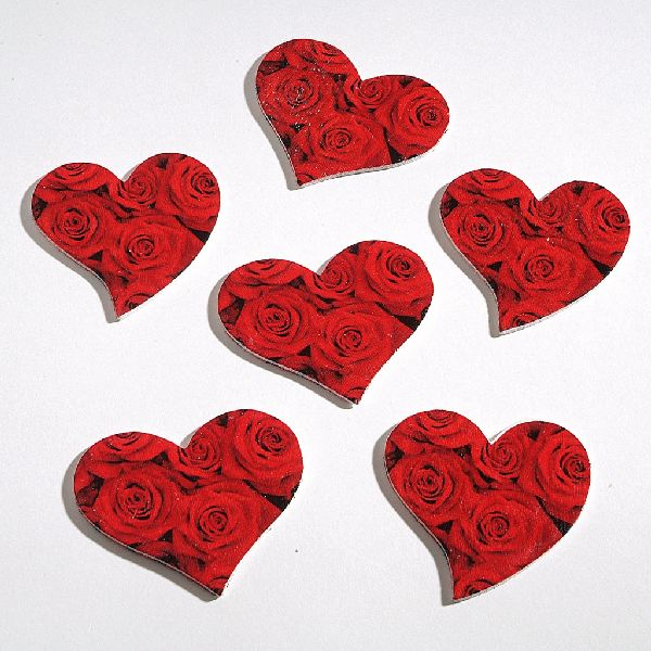 Herz Rose zum Streuen ROT 97582 5,5cm 1Box=60Stück