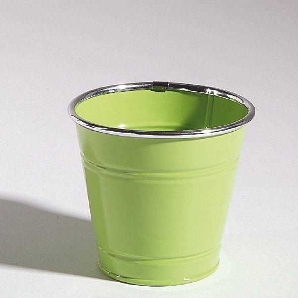 Topf Minio GRÜN 31817 840 10x9,5cm Metalltopf Silberrand