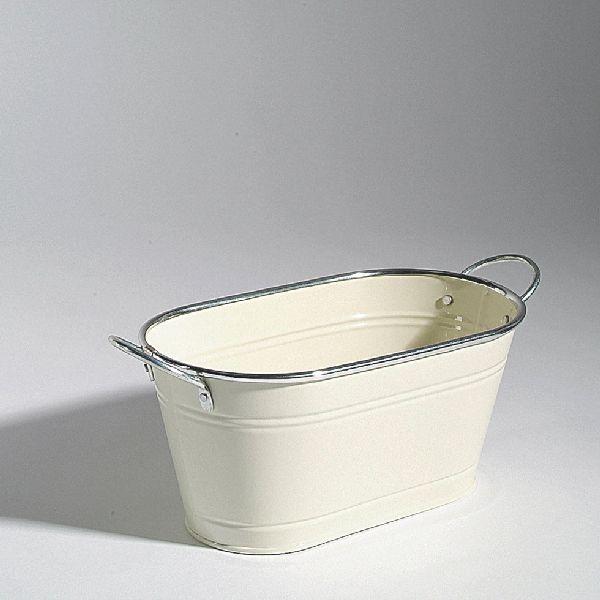Jardiniere Minio EIERSCHALE 98130 120 28,5x14,5x12,5cm Silberrand