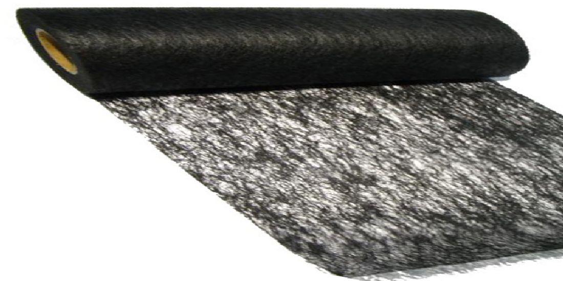 Vlies, Tischband, Dekovlies SCHWARZ 113 43002-70cm Rolle=25m