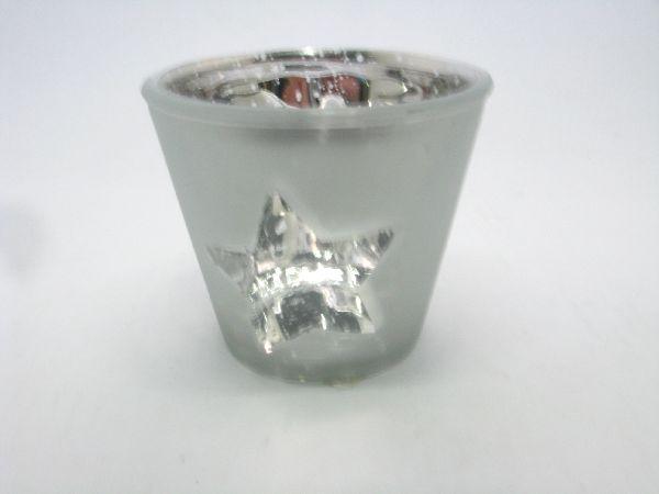 Glastopf Stern SILBER 11261 16x13x12cm