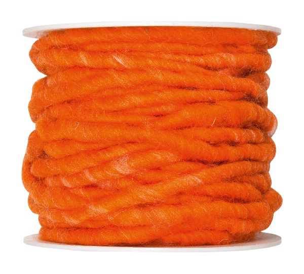 Wollschnur mit Jute ORANGE 68 5mm 10m 61710