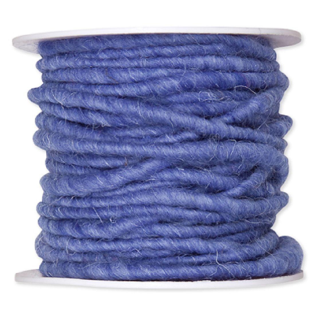 Wollschnur mit Jute azurblau 103 5mm 10m 61710