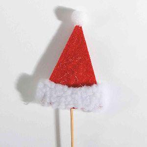 Nikolausmütze/Weihnachtsmütze ROT-WEISS 79462 Stecker 5,5x8cm  Filz