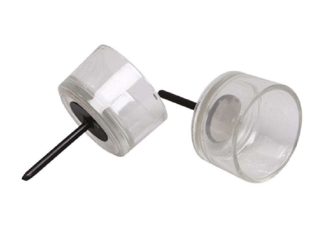 Teelichthalter Glas mit Pick KLAR  239347 Ø5cm  Dornlänge:4,5cm