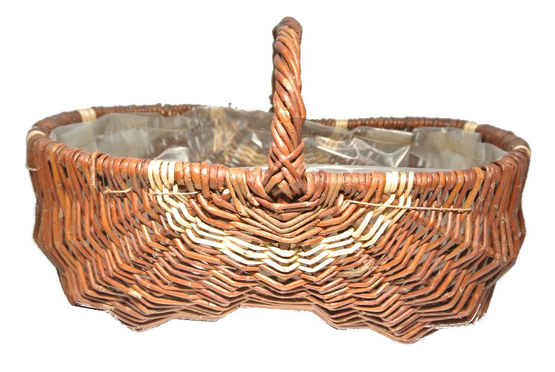 Gartenkorb m.h.Streifen NATURWEIDE 48cm