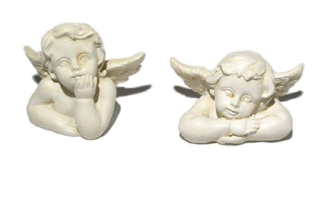 Engelbüste Rafi steinweiss 13370-031 3cm x 2cm x 2cm Polyresin