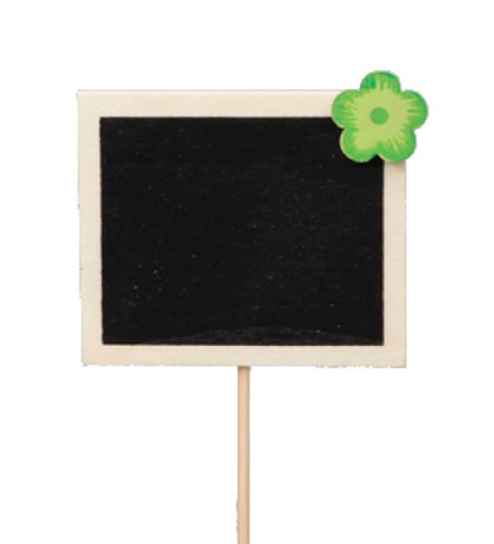 Tafel am Pick NATUR-GRUEN 338447 7x6cm Holz mit 2Kreidestücken