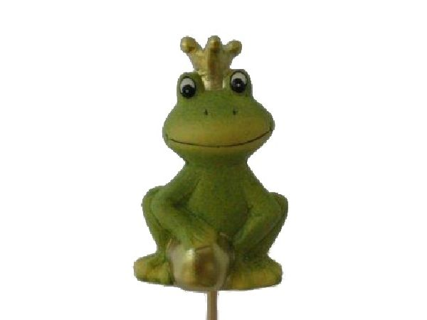 Froschkönig GRÜN 14388 Stecker 6,5cm L=26cm Keramik