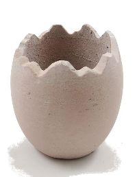 Ei gebrochen Keramik ROSA-RUSTIKAL 14,5x16cm 81521
