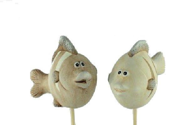 Fischstecker CREME-BRAUN 15275 7,5x4x20,5cm Keramik 2-fach