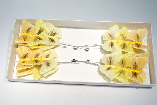 Schmetterling Stecker GELB-GEMISCHT 5,5cm 14135