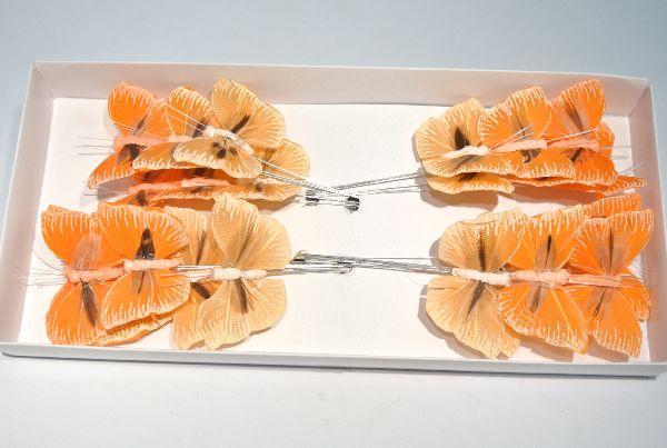 Schmetterling Stecker ORANGE-GEMISCHT 5,5cm 14135
