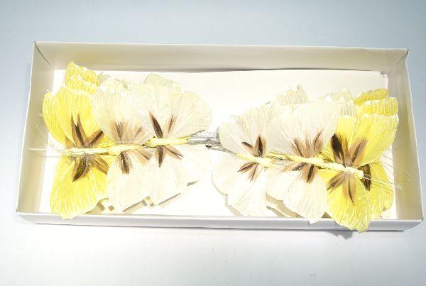 Schmetterling Stecker WEISS-GEMISCHT 8,5cm 14136
