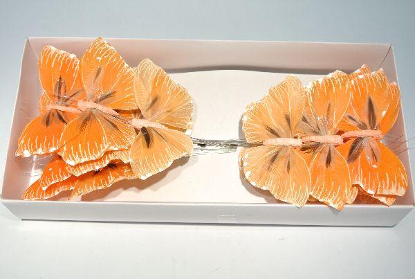 Schmetterling Stecker ORANGE-GEMISCHT 8,5cm 14136