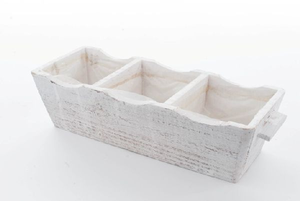 Holz Pflanzbox 3er WHITE-WASH 95358 35x12,5x9cm