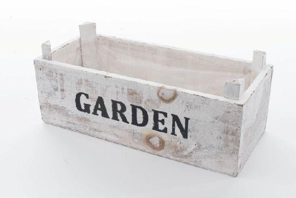 Holzbox Garden WEISS-ABGEWISCHT 30x12,5x10cm 95619