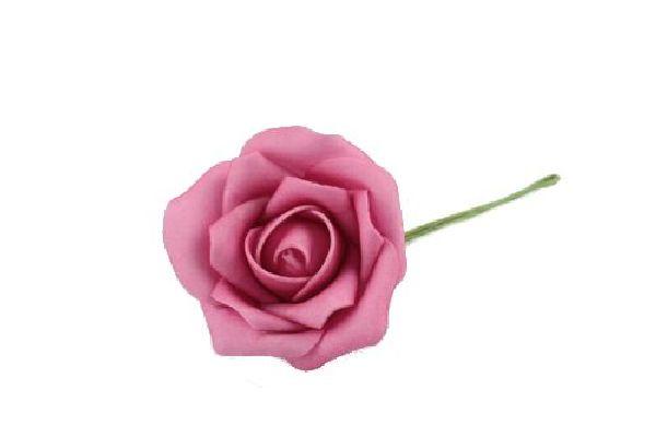Rose Foam PINK 48 Schaumrosen 7cm 15642  Foamrosen