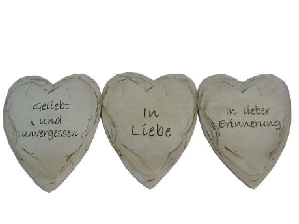 Spruchherz Schieferoptik stein-weiss 13716 13x10x1,2cm  Polyresin