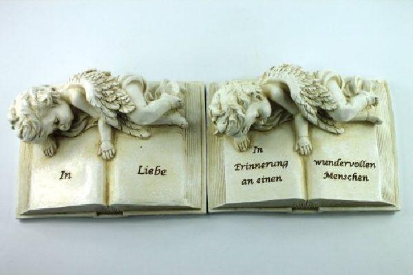 Buch mit Engel und Spruch steinweiss 13785 16,5x12,2x7,2cm