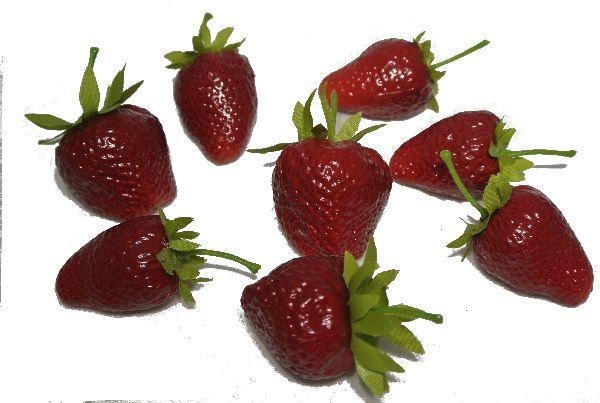 Erdbeere Dekoobst ROT 14689 3,5cm + 4cm Kunstobst