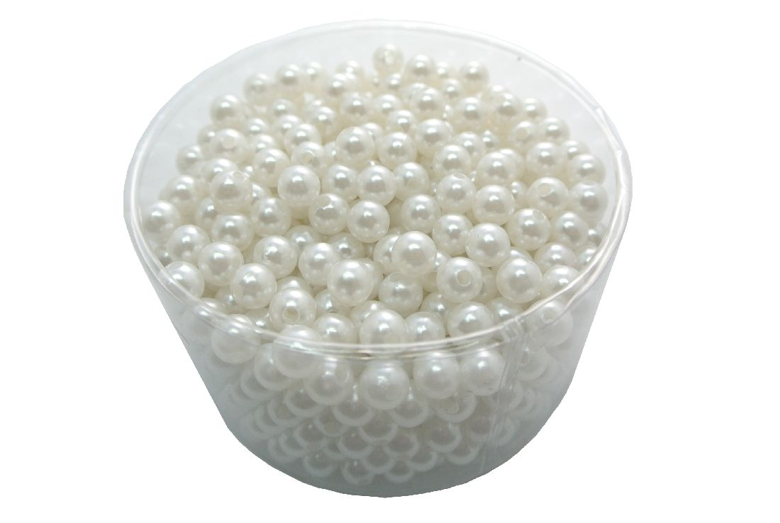 Perlen WEISS 28 10mm 300g ca 600 St.