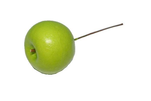 Apfel mit Draht GRÜN 34422 800 4,5cm / Styrofoam