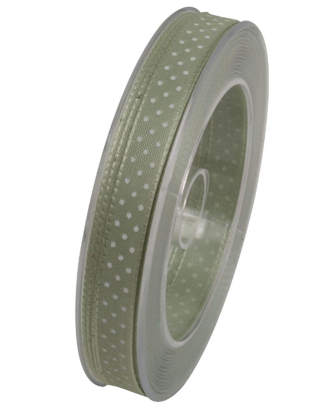 Band Flashlight gepunktet PASTELLGRÜN x133 543 10mm 25m Punkteband