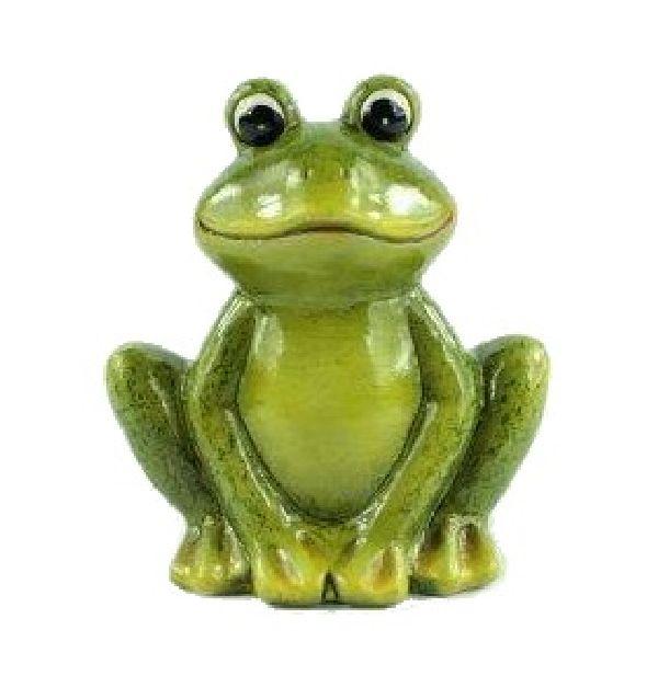 Frosch Fridolin GRÜN 15240 7,4x5x8cm Keramik
