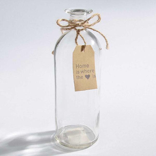 Glas Home KLAR 33509 Öffnung:1,8cm Flasche 7x20,5cm