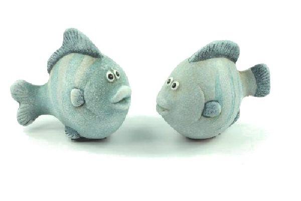 Fisch Herrmann BLAU 15276 L7,5 x 4 x H6cm Keramik 2-fach