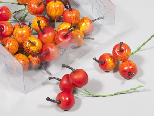 Apfel am Draht ORANGE 200251 2,5 cm   36 Stück