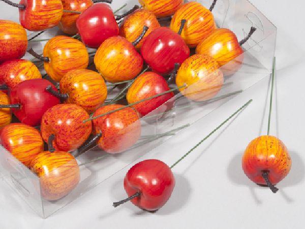Apfel am Pick ORANGE 200291 3,5cm  24 Stück