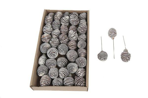 Platyspermum angedrahtet WEISS ABGEW. 13860 40 Stück 36x20x5cm