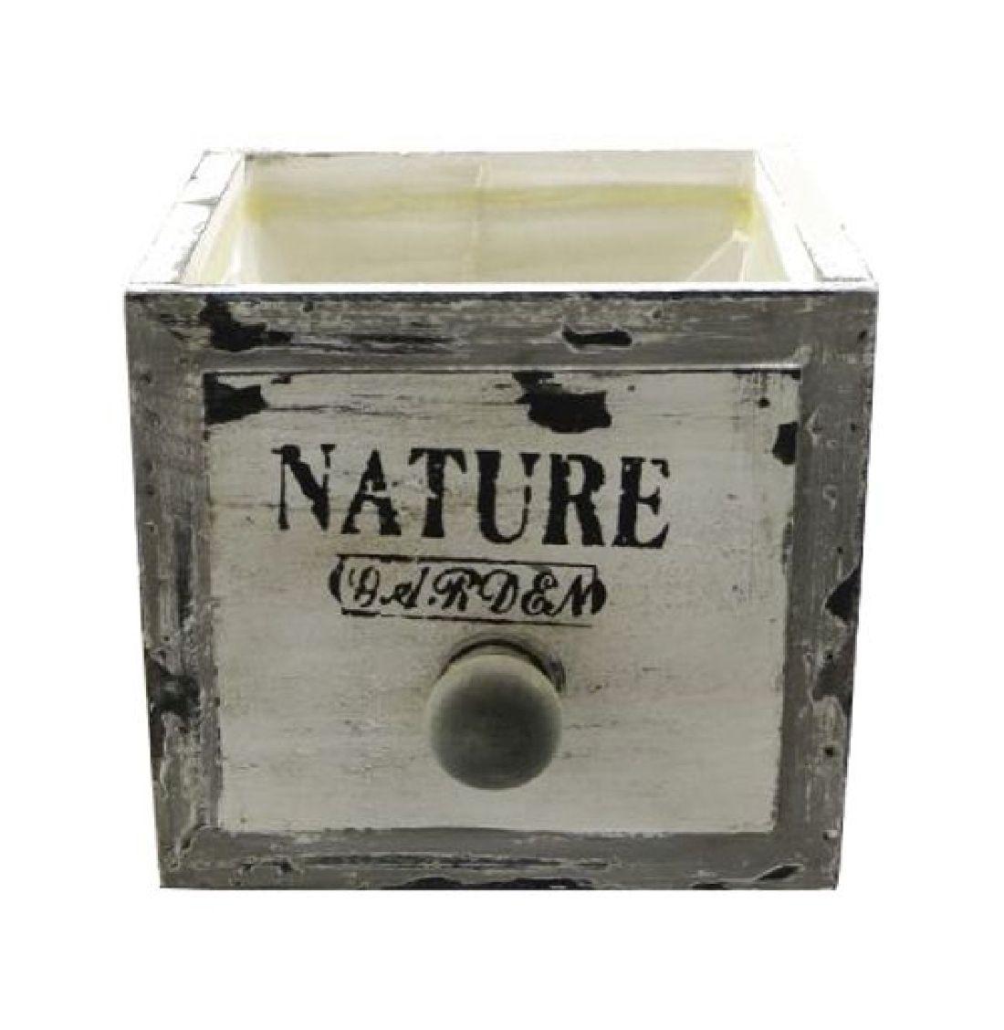 Schubladenbox mit Innenfolie VINTAGE 12568 Holz NATURE Garden 16x16xH13,5cm