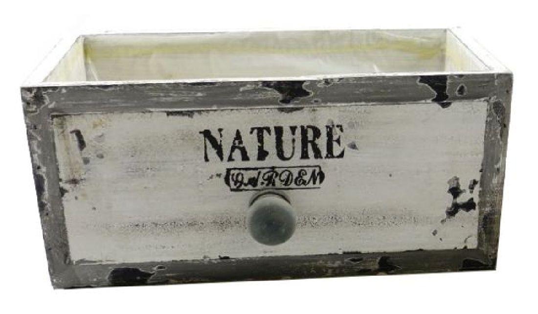 Schubladenbox mit Innenfolie VINTAGE 12567 Holz NATURE Garden 27x14xH11,5cm