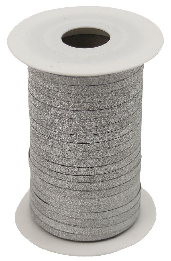 Kräuselband Glamour SILBER 8146 Ziehband Breite 5mm  Rolle=150Meter