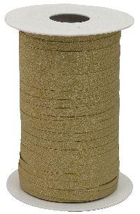 Kräuselband Glamour GOLD MATT 153 Ziehband Breite 5mm  Rolle=150Meter
