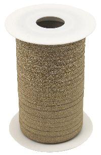 Kräuselband Glamour GOLD 8146 Ziehband Breite 5mm  Rolle=150Meter