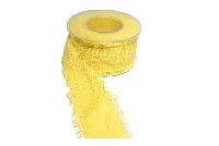 Baumwollband mit Fransenkante GELB 7240 136 40 mm 5 Meter