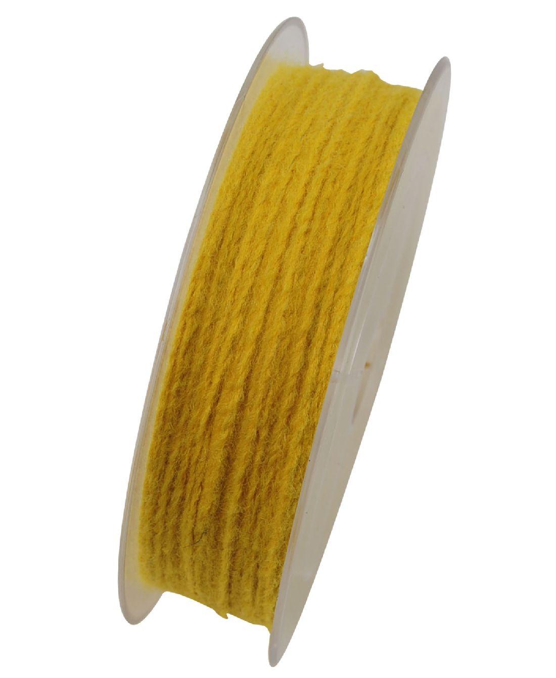 Wollkordel Twist mit Draht GELB 5109 2mm  50 Meter  Wollschnur
